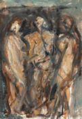 Böttcher, Manfred (Oberdorla/Thüringen 1933 - 2001 Berlin)Drei FrauenakteÖlfarben auf festem Karton,