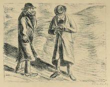 Barlach, Ernst (Wedel/Holstein 1870 - 1938 Rostock)Ungleiches Paar 1Blatt 3 aus der Mappe: Der
