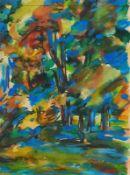 Bley, Fredo (Obermylau 1929 - 2010 Reichenbach/Vogtland)SommerAquarell, um 1985, 300 x 228, sign.