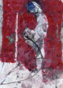 Brosch, Hans (geb. 1943 in Berlin, lebt in Berlin)(Madonna / rot)Mischtechnik auf Papier, um 2000,
