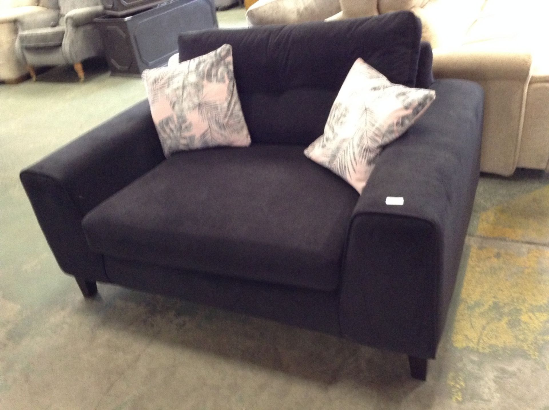 Lot 61 - BLACK SNUG CHAIR