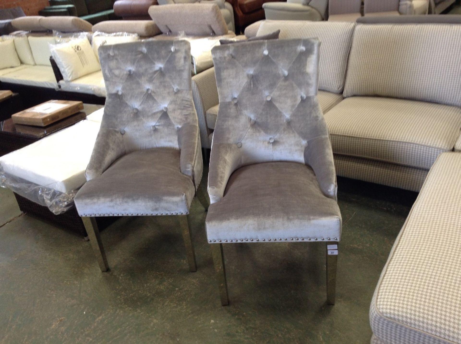 Lot 80 - Rosdorf Park Cambree Knockerback Upholstered Dining Chair x2(HAZO1160 - 12234/11)