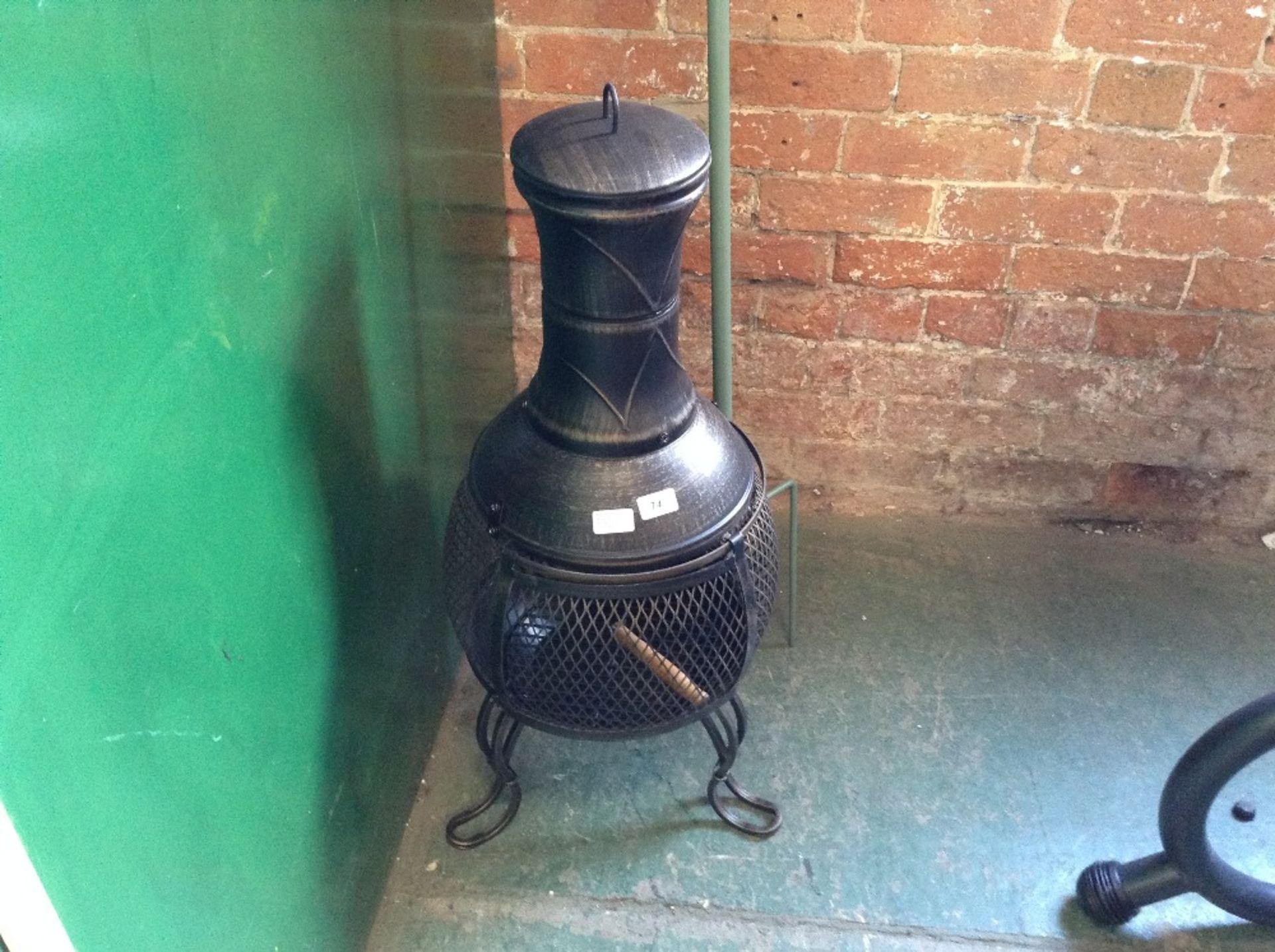 Lot 74 - Gardeco Kobie Steel Charcoal/Wood Burning Chiminea (GGGD1399 - 12369/1)