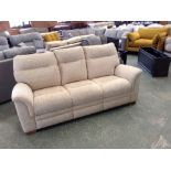 Lot 49 - BISCUIT PATTERNED HIGH BACK 3 SEATER SOFA (TROO162