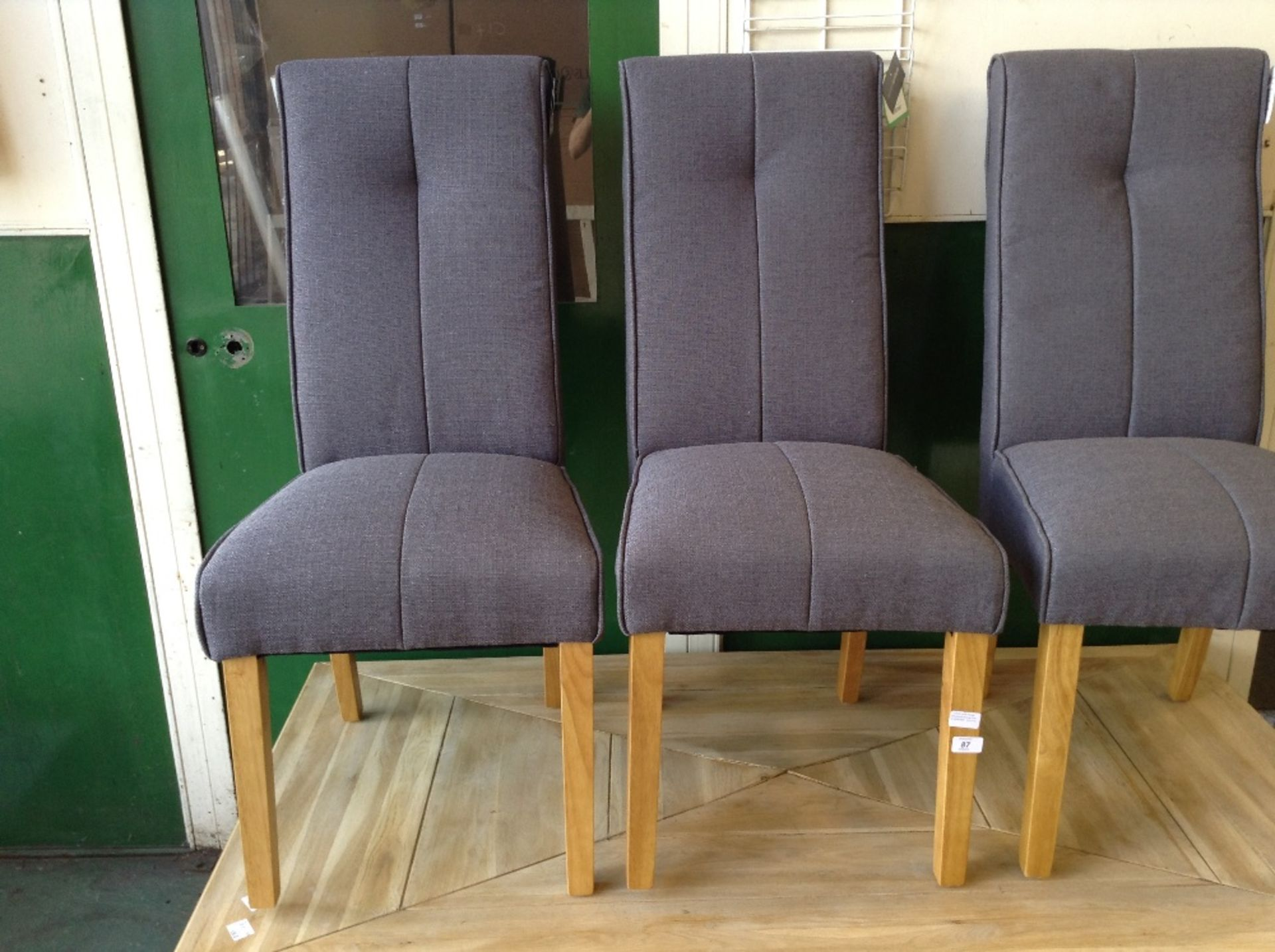 Lot 87 - All Home Denver Upholstered Dining Chair x2 (HVW7669 - 12213/4)