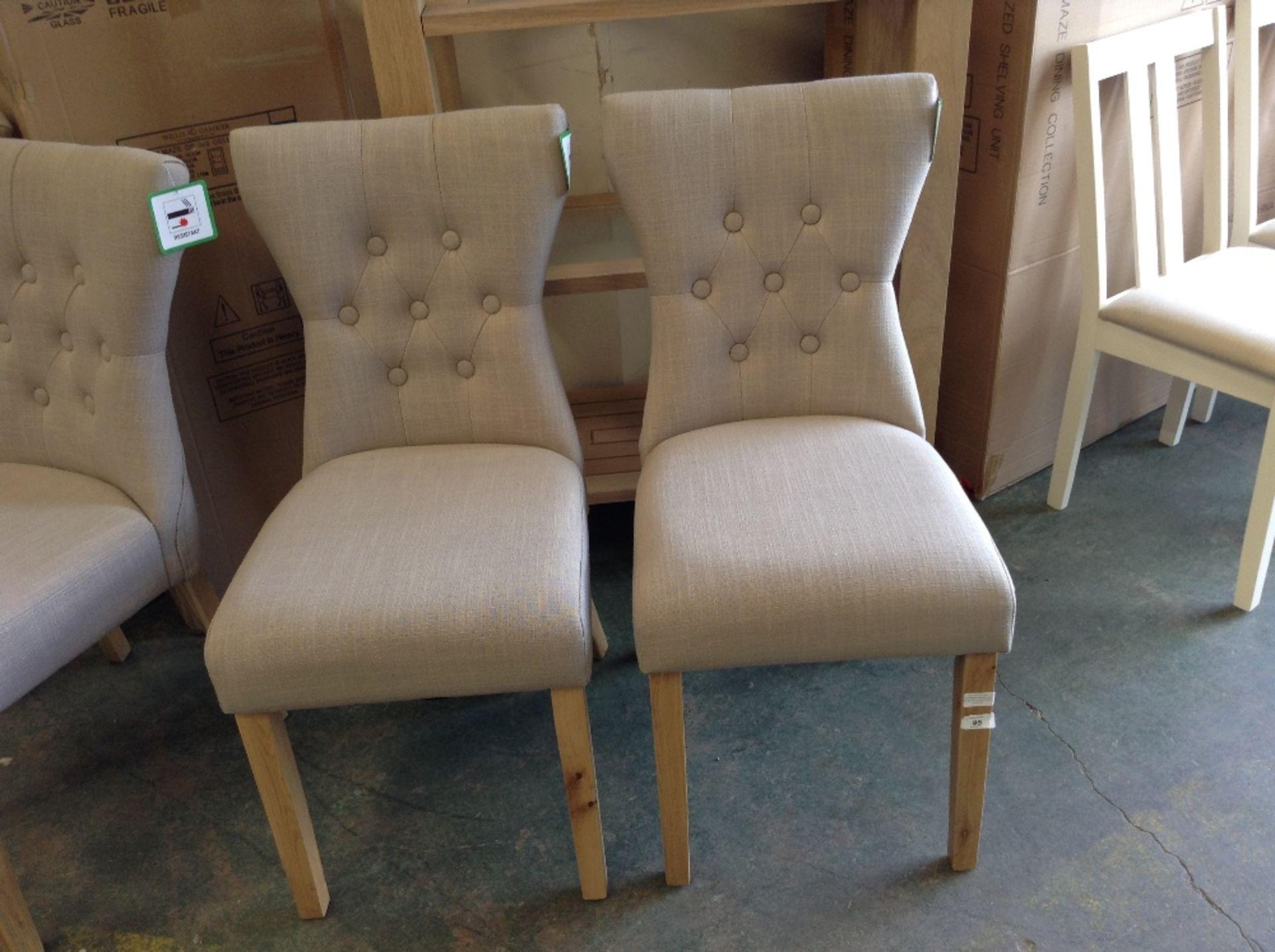 Lot 95 - Fairmont Park Wimbledon Upholstered Dining Chair x2(HOHA1247 - 12157/5)