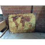 Lot 202 - bilderdepot24 Retro World Map II Framed Photographic Print on Canvas (BIDO3912 - 12131/64)