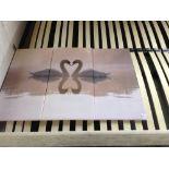 Lot 217 - Pixxprint White Swans in Love at Dawn 3-Piece Photographic Print on Canvas Set (EXXP7551 - 12131/9)