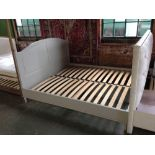 Lot 220 - HAND MADE PAINTED 6 FT BED FRAME