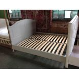 Lot 219 - HAND MADE PAINTED 6 FT BED FRAME