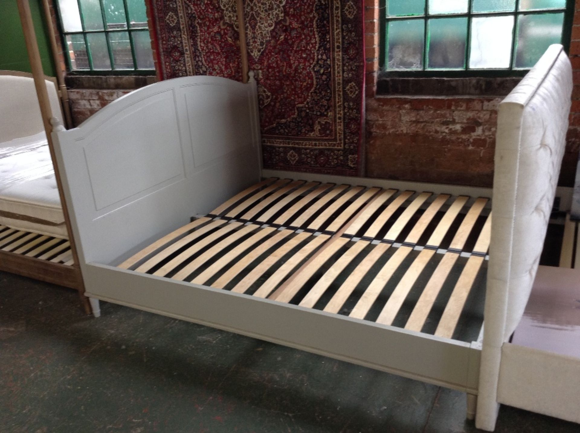 Lot 221 - HAND MADE PAINTED 6 FT BED FRAME