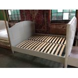 Lot 222 - HAND MADE PAINTED 6 FT BED FRAME