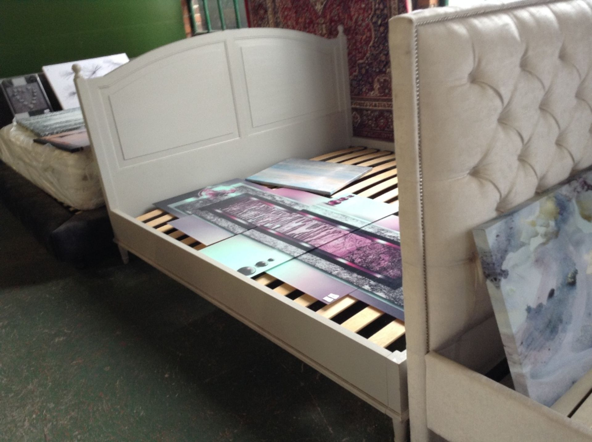 Lot 191 - HAND MADE PAINTED 6 FT BED FRAME