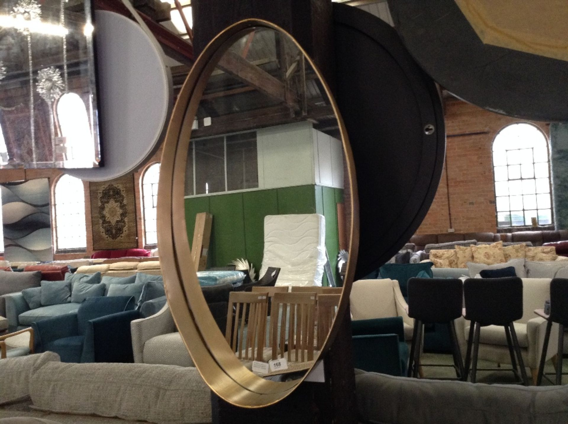 Lotto 168 - Marlow Home Co. Chokio Accent Mirror (RETURN)(GCNU