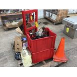 Lot 23 - PALLET: SHOP TOOLS AND SUPPLIES