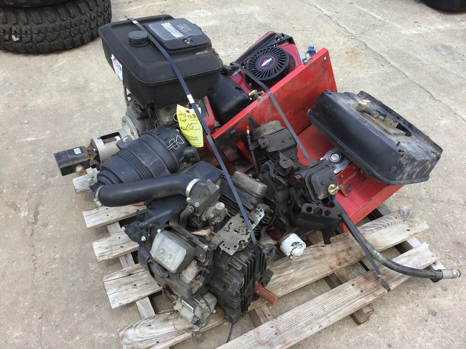 Lot 15 - PALLET: (4) ENGINES