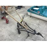 Lot 25 - ANTIQUE DOLLY AND CULTIVATOR