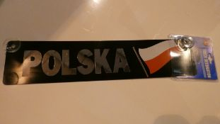 Large Quantity of Polska Truck Decoration Plates in 9 Boxes