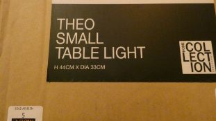 Boxed Home Collection Theo Small Table Light RRP £45 (Customer Return)