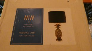 Boxed Matthew Williamson Pineapple Lamp RRP £120 (Customer Return)