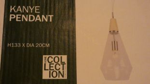 Boxed Home Collection Kanye Pendant Ceiling Light Fitting RRP £110 (Customer Return)