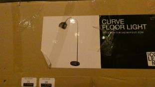 Boxed Home Collection Curve Floor Standing Lamp RRP £90 (Customer Return)