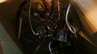 Boxed Crystal Glass Designer Ceiling Light Fitting RRP £220 (Customer Return)
