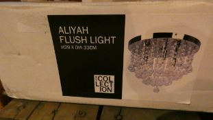 Boxed Home Collection Aliyah Flush Ceiling Light RRP £120 (Customer Return)