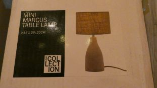 Lot of 2 Boxed Home Collection Mini Marcus Table Lamps combined RRP £80 (Customer Return)