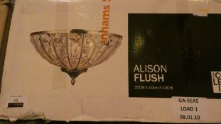 Boxed Home Collection Alison Flush Ceiling Light RRP £120 (Customer Return)