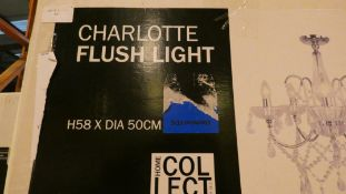 Boxed Home Collection Charlotte Stainless Steel Glass Droplet Flush Ceiling Light Fitting RRP £