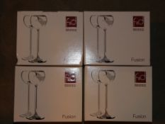 Lot to Contain Four Packs of Fusion F&D Design Licuour Glasses