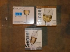 Lot to Contain Three Assorted Packs of Krosno Glasses to include Sensei Fusion Crystal Wine