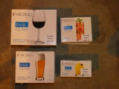 Lot to Contain Six Assorted Items to include Krosno Basic Beer Glasses, Krosno Juice Glasses,