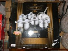 Boxed Royalty Line 18 Piece Cookware Set RRP £150