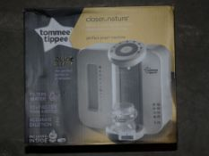 Boxed Tommee Tippee Closer to Nature Quick and Easy Perfect Preparation Machine RRP £120