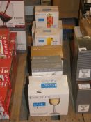 Lot To Contain Seven Boxed Assorted Glassware Items To Include Krosno Basic White Wine Glasses,