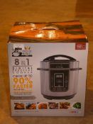 Lot to Contain 2 Boxed 8 in 1 Pressure Cookers RRP £50