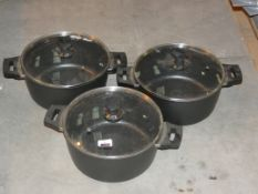 Lot To Contain Two Herenthal Marble Coated Casserole Pans