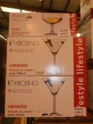 Lot To Contain Three Boxed Sets Of Krosno To Include Vivat Champange Saucers, And Venesia Martini