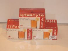 Lot To Contain Three Boxed Sets Of Krosno Tick Tea Glasses