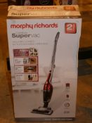 Boxed Morphy Richards Super Vac Cordless Upright Vacuum with Handheld