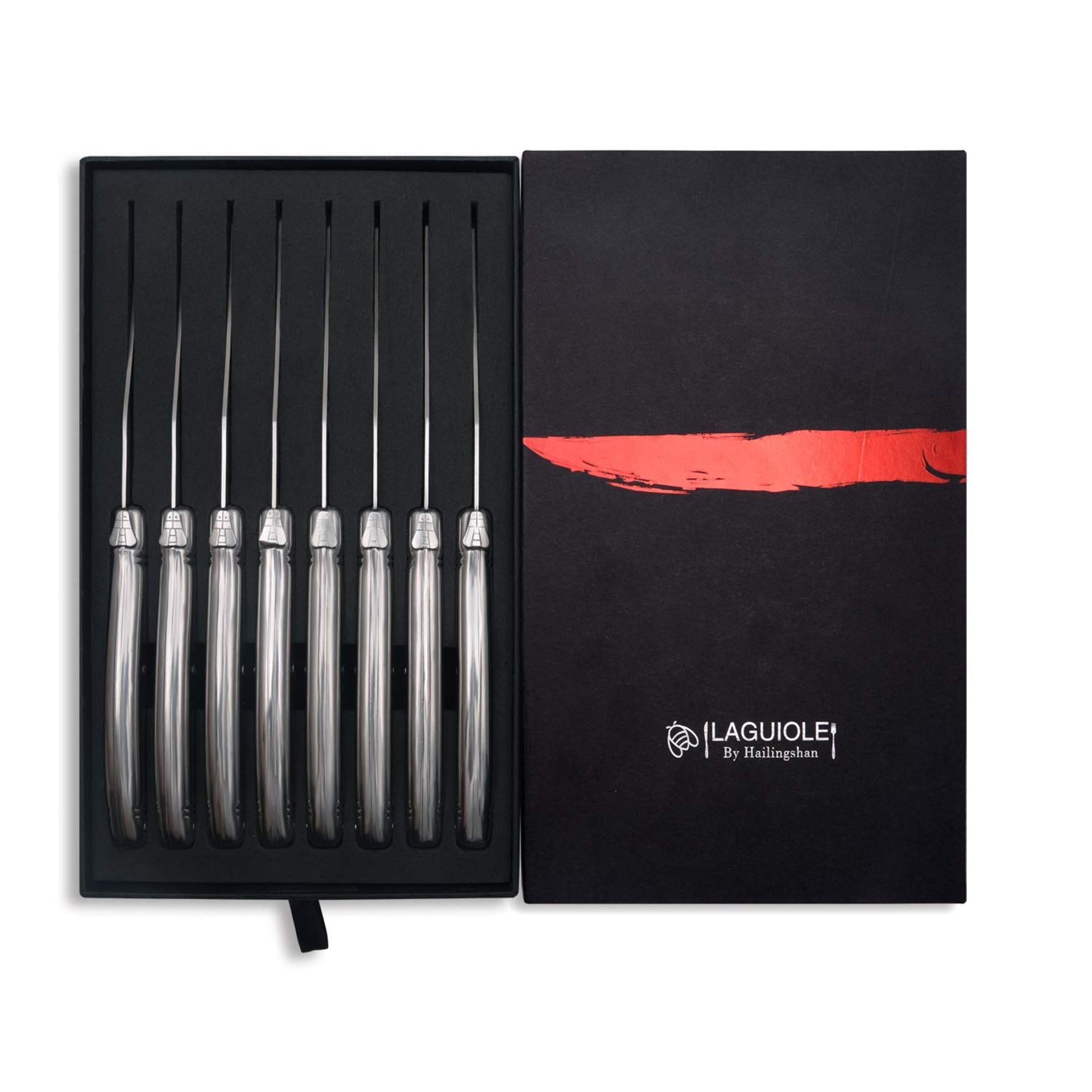 Lot 60 - Boxed Brand New Laguiloe Style By Hallingshan Set of 8 Steak Knifes RRP £49.99