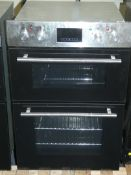 Stainless Steel Twin Cavity Fan Assisted Fully Integrated Electric Oven (Viewing Is Highly