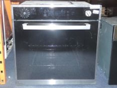 Fully Integrated Stainless Steel and Black Multi Function Fan Assisted Electric Oven (Viewing Is