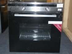 Stainless Steel and Black Glass Fully Integrated Single Cavity Fan Assisted Electric Oven (Viewing