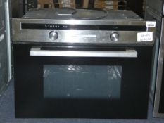 Stainless Steel and Black Fully Integrated Convection Microwave Oven with Grill (Viewing Is Highly