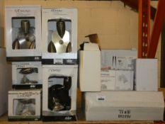 Lot to Contain 16 Assorted Lighting Items to Include 2 Dar Lighting Gemini Single Wall Lights, 8 Dar