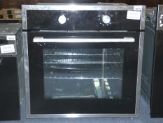 Stainless Steel and Black Glass Fully Integrated Single Gas Oven (Viewing Is Highly Recommended)