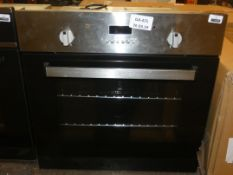 Fully Integrated Black and Stainless Steel Single Fan Assisted Electric Oven (Viewing Is Highly